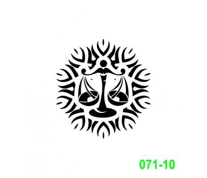 Ekslibrisas - zodiako ženklas Svarstyklės