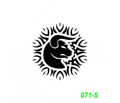 Ekslibrisas - zodiako ženklas Jautis