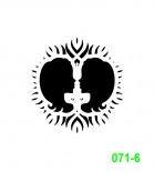 Ekslibrisas - zodiako ženklas Dvyniai