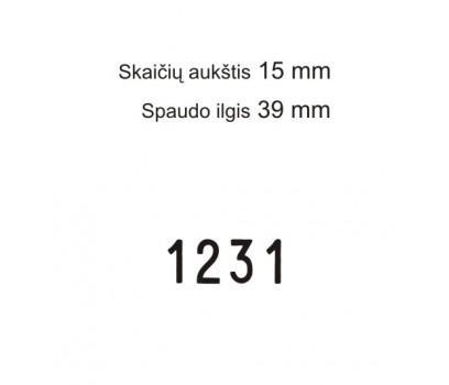 Numeratorius 15154, 15 mm, 4 skaičių