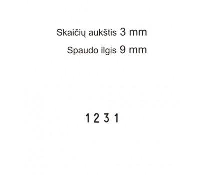 Numeratorius 1534, 3 mm, 4 skaičių
