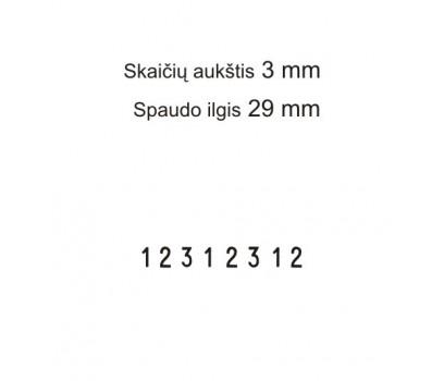 Numeratorius 1538,  3 mm, 8 skaičių