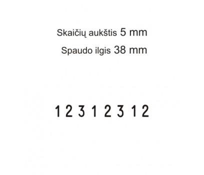 Numeratorius 1558, 5 mm, 8 skaičių