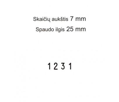 Numeratorius 1574, 7 mm, 4 skaičių