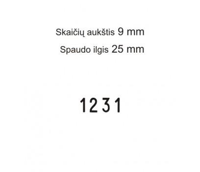 Numeratorius 1594, 9 mm, 4 skaičių