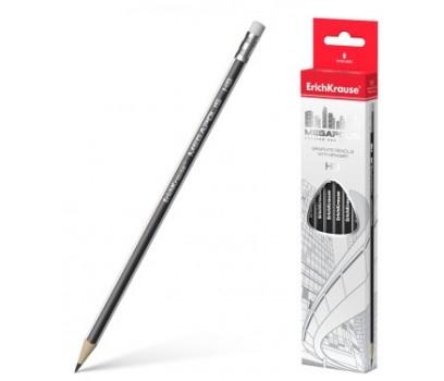 Pieštukas su trintuku Megapolis ErichKrause HB tribriaunis