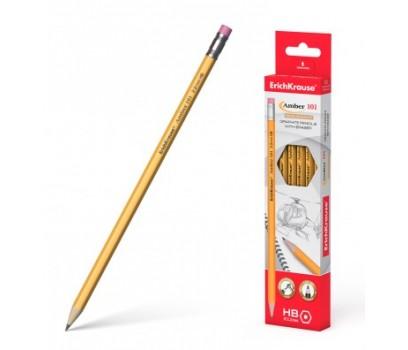 Pieštukas su trintuku AMBER 101 ErichKrause šešiabriaunis HB