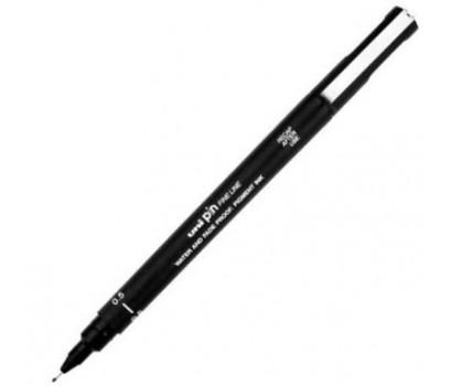 Grafinis rašiklis Uni PIN - 200  0,5 mm  juodos sp.