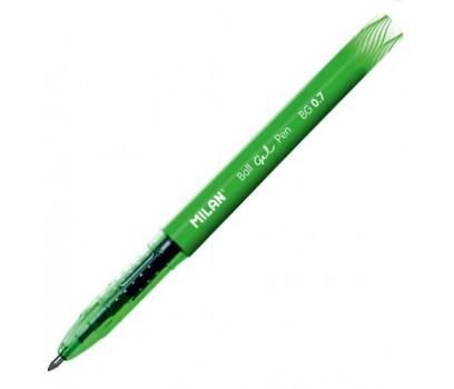 Gelinis rašiklis MILAN  BG 0,7mm  žalios sp.
