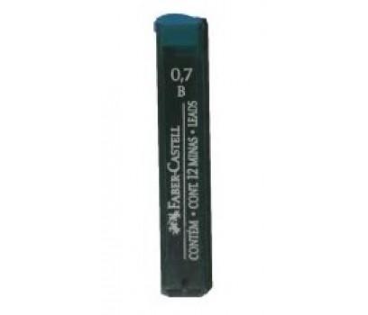 Grafitai automatiniams pieštukams Faber-Castell  0,7mm B