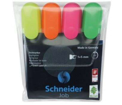 Teksto žymeklių Schneider Job 1-5mm 4spalvų rinkinys