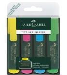 Teksto žymeklių  Faber-Castell  1,2-5mm 4spalvų rinkinys