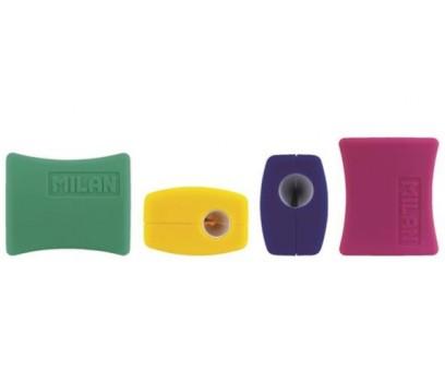 Drožtukas MILAN Double  dvigubas  plastikinis įvairių sp.