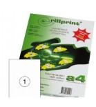 Lipnios etiketės Rillprint A4  210 x 297 mm 1 lipd/lap.