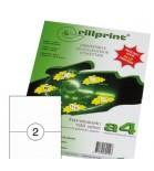 Lipnios etiketės Rillprint A4  210 x 148,5mm 2 lipd/lap.