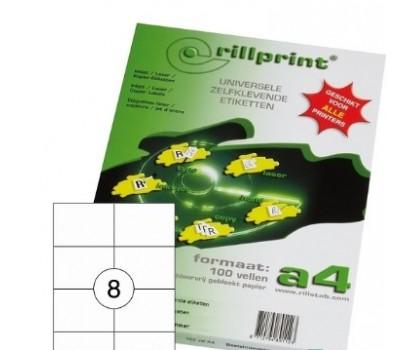 Lipnios etiketės Rillprint A4  105 x 74mm  8 lipd/lap.