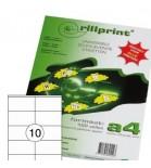 Lipnios etiketės Rillprint A4  105 x 57mm 10 lipd/lap.