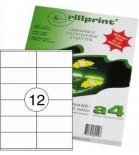 Lipnios etiketės Rillprint A4  105 x 48mm 12 lipd/lap.