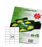 Lipnios etiketės Rillprint A4  70 x 36mm 24 lipd/lap.