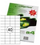 Lipnios etiketės Rillprint A4  52,5 x 29,7mm 40 lipd/lap