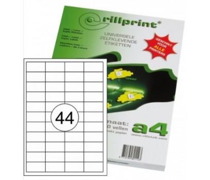 Lipnios etiketės Rillprint A4  48,5 x 25,4mm 44 lipd/lap.