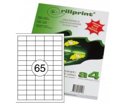 Lipnios etiketės Rillprint A4  38 x 21,2 mm 65 lipd/lap.