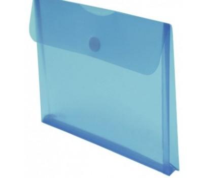 Aplankas-vokas A4+ 22x33,5cm su lipuku ir praplatėjimu mėlynos sp.
