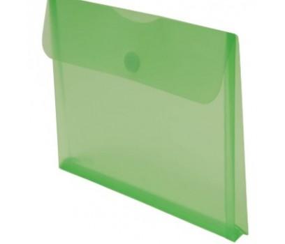 Aplankas-vokas A4+ 22x33,5cm su lipuku ir praplatėjimu žalios sp.