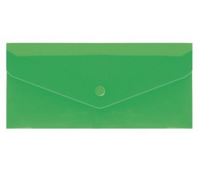 Aplankas - vokas su spaustuku DL EconoMix  225x116mm  žalios sp.