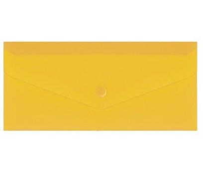 Aplankas - vokas su spaustuku DL EconoMix  225x116mm  geltonos sp.