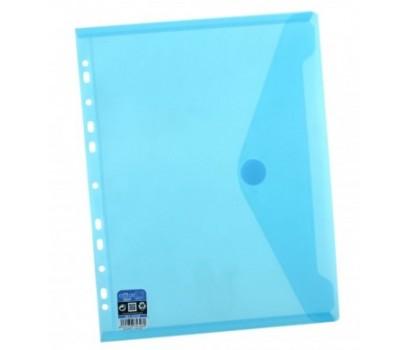 Vokas-aplankas A4+ 24x33,5cm su lipuku ir perforacija mėlynos sp.