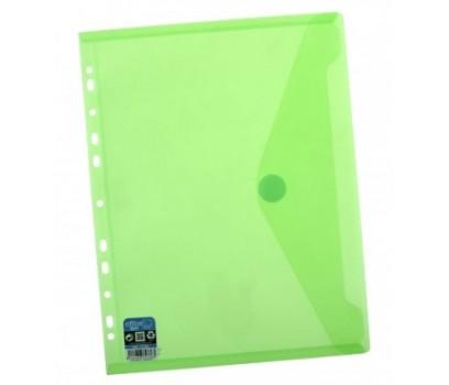 Vokas-aplankas A4+ 24x33,5cm su lipuku ir perforacija žalios sp.