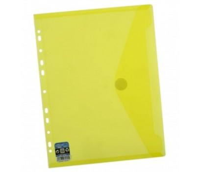 Vokas-aplankas A4+ 24x33,5cm su lipuku ir perforacija geltonos sp.