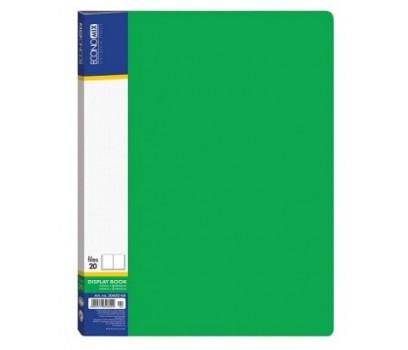 Pristatymo aplankas A4 su 20 įmaučių žalios sp.