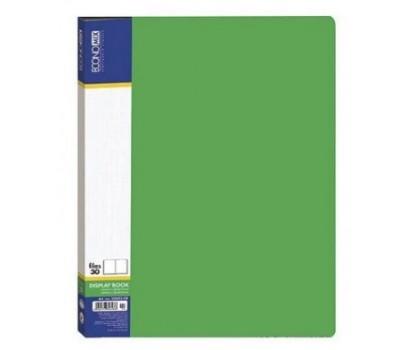 Pristatymo aplankas A4 su 30 įmaučių žalios sp.