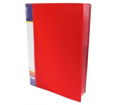 Pristatymo aplankas A4 su 40 įmaučių,raudonas