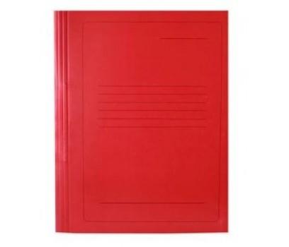 Segtuvėlis kartoninis su įsegėle raudonas  A4