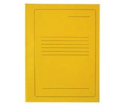 Segtuvėlis kartoninis su įsegėle geltonas  A4